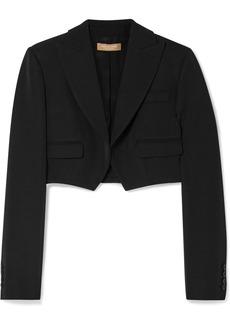 Michael Kors Cropped Wool-gabardine Blazer