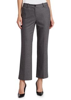 Michael Kors Cropped Wool Houndstooth Pants