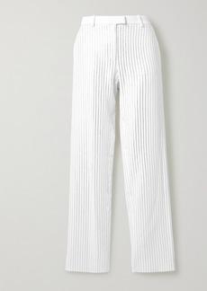 Michael Kors Crystal-embellished Crepe Wide-leg Pants