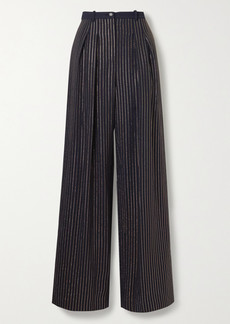 Michael Kors Crystal-embellished Crepe Wide-leg Pants