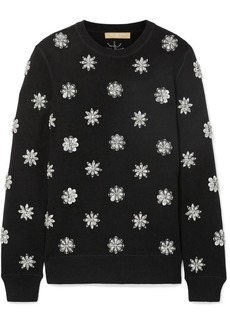Michael Kors Crystal-embellished Knitted Sweater
