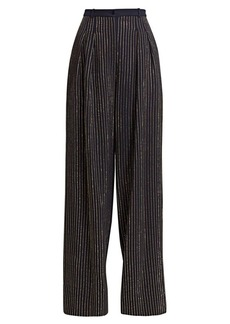 Michael Kors Crystal Pinstripe Wide Leg Pants