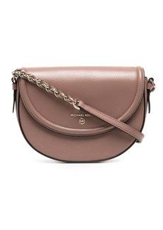 Michael Kors curved leather crossbody bag
