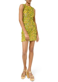 Michael Kors Daisy Lime Embellished Sleeveless Dress