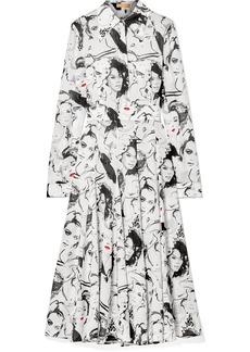 Michael Kors David Downton Printed Silk Crepe De Chine Midi Dress