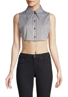 Michael Kors Dickie Check Crop Top