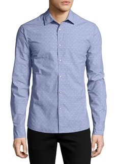 Michael Kors Dobby-Dot Slim Shirt