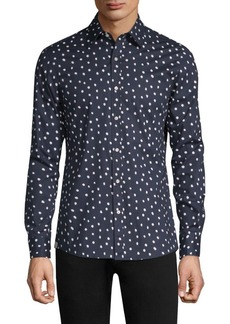 Michael Kors Dot-Print Button-Down Shirt