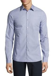 Michael Kors Dot-Print Slim-Fit Stretch Shirt