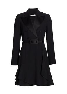 Michael Kors Double Crepe Belted Blazer Dress