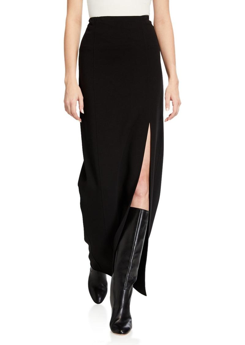Michael Kors Double-Face Wool-Blend Slit Skirt