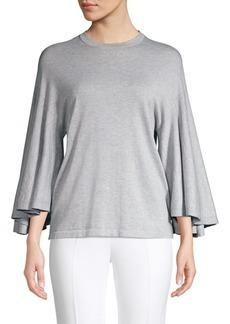 Michael Kors Drape Sleeve Cotton Shirt