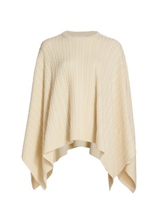 Michael Kors Draped Cable Knit Cashmere Pullover Sweater