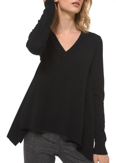 Michael Kors Draped Cashmere V-Neck Pullover Sweater