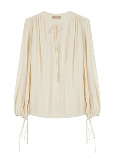 Michael Kors Draped Silk Blouse