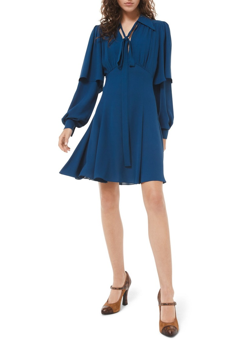 Michael Kors Draped Sleeve Flare Dress