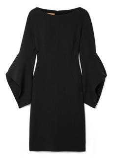 Michael Kors Draped Wool-blend Mini Dress