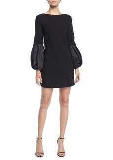 Michael Kors Duchess-Sleeve Boucle Shift Dress