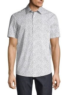 Michael Kors Edan Classic-Fit Floral Cotton Shirt