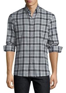 Michael Kors Edita Plaid Flannel Slim-Fit Sport Shirt