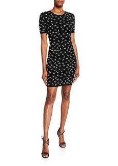 Michael Kors Embellished-Jersey Sheath Dress