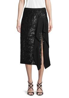 Michael Kors Embellished Ruffled Skirt