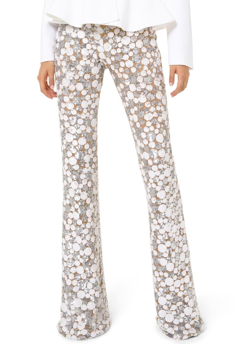 Michael Kors Embroidered Flare Pants