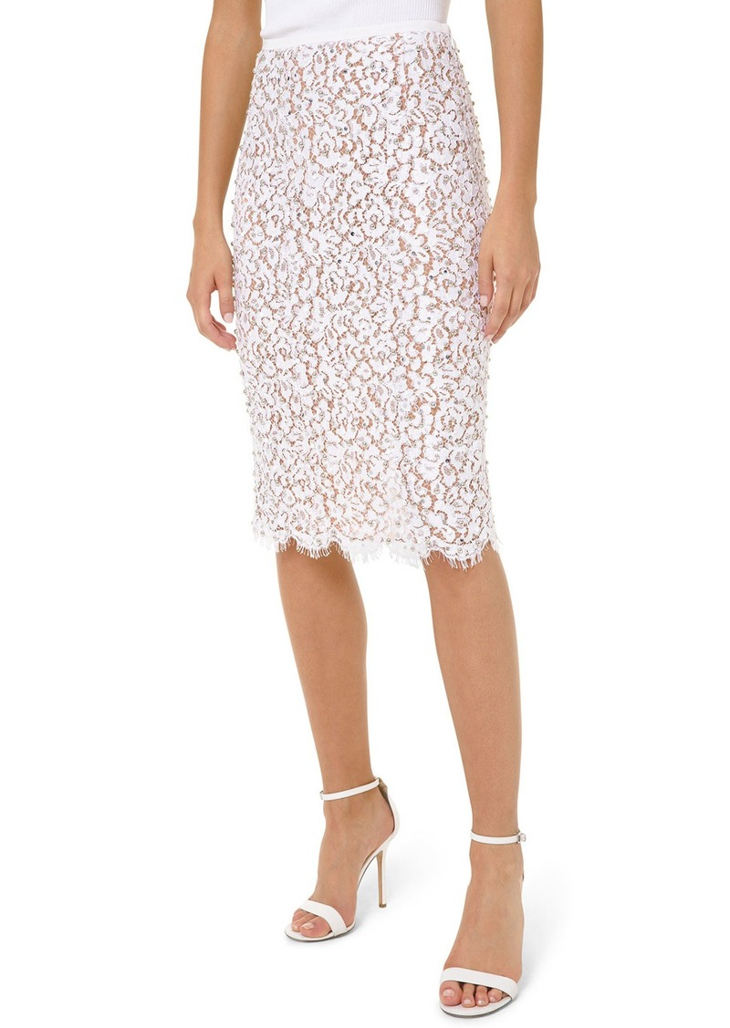 Michael Kors Embroidered Lace Skirt