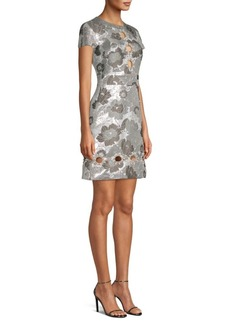 Michael Kors Embroidered Flower Dress