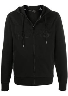 Michael Kors embroidered logo zip-up hoodie