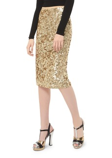 Michael Kors Embroidered Pencil Skirt