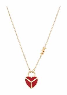 Michael Kors Enamel Heart Necklace