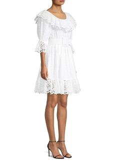 Michael Kors Eyelet Poplin Dirndl Dress