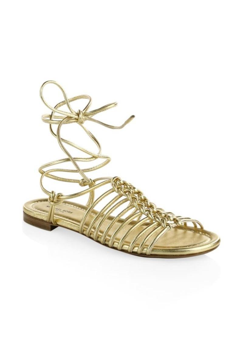 febe62d123ee SALE! Michael Kors Fagan Lace-Up Sandals