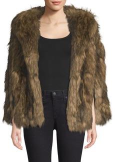Michael Kors Faux Fur Capelet Jacket