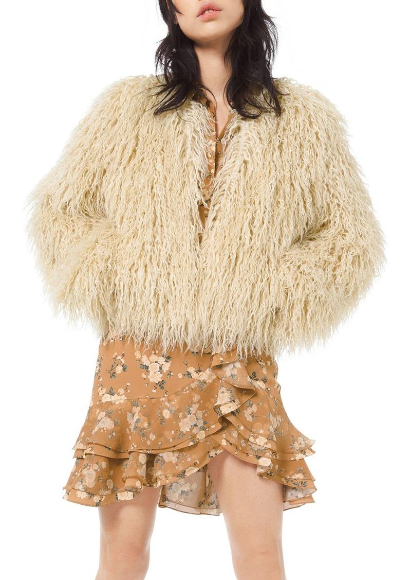 Michael Kors Faux-Fur Chubby Coat