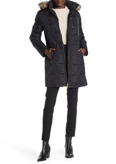 MICHAEL Michael Kors Faux Fur Trim Hooded Down Puffer Jacket