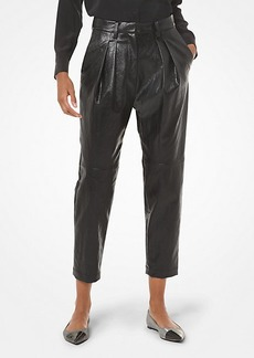 Michael Kors Faux Leather Pleated Pants