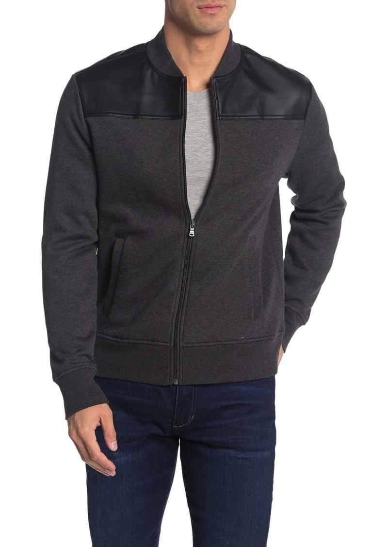 Michael Kors Faux Leather Trim Bomber Jacket