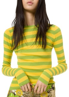 Michael Kors Featherweight Cashmere Striped Sweater