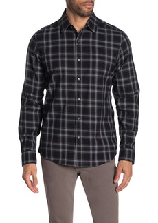 Michael Kors Finn Plaid Print Slim Fit Shirt