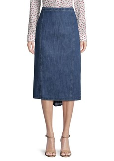 Michael Kors Fishtail Denim Pencil Skirt