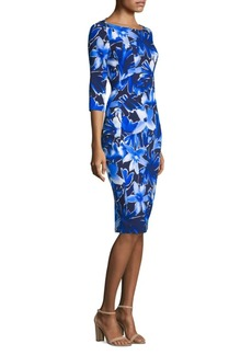Michael Kors Floral Boatneck Dress