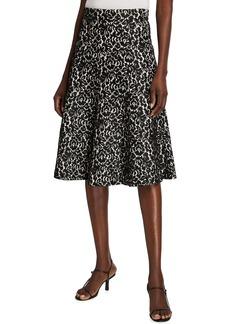 Michael Kors Floral Bonded Lace Flare Skirt