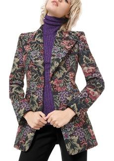 Michael Kors Floral Brocade Tuxedo Blazer
