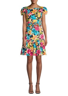 Michael Kors Floral Cap-Sleeve Dress