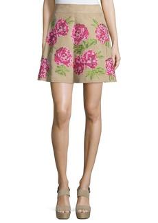Michael Kors Floral Embroidered Flirt Skirt