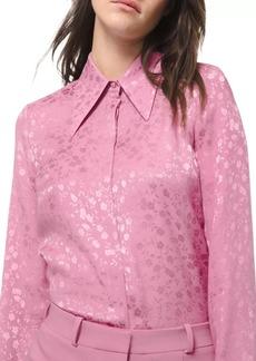 Michael Kors Floral Jacquard Silk Shirt