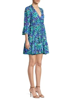 Michael Kors Floral Mini Babydoll Dress