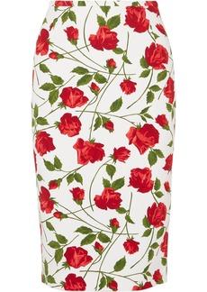 Michael Kors Floral-print Cady Skirt